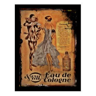 Français vintage Cologne de carnaval Carte Postale