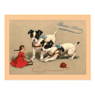 Français vintage de Bonne Annee Cartes Postales