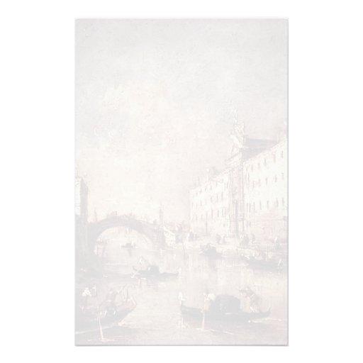 Francesco Guardi- dei Mendicanti de Venise, IL Rio Papier À Lettre Personnalisable