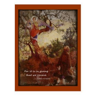 Francis de l'agenouillement d'Assisi Carte Postale