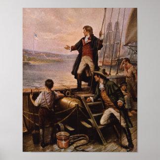 Francis Scott Key - l'étoile a orné la peinture de Posters