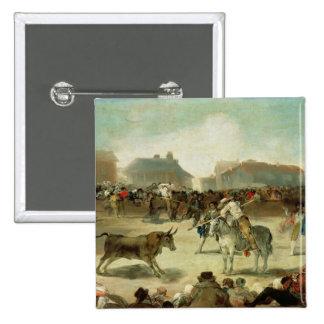 Francisco Jose de Goya | une corrida de village Pin's