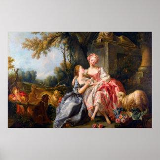 Francois Boucher l art rococo de dames de Dou de b Posters