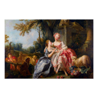 Francois Boucher l'art rococo de dames de Dou de b Posters