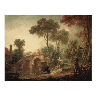 Francois Boucher - le pont Carte Postale
