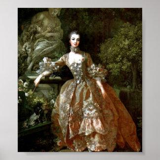 Francois Boucher - Madame de Pompadour Posters