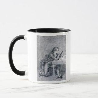 Francois Buzot contemplant un portrait Mug