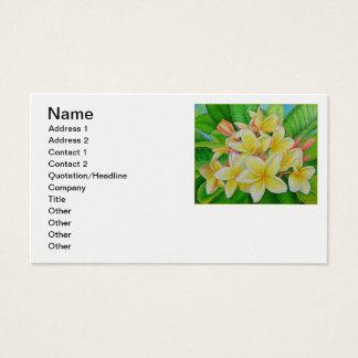 Frangipani hawaïen cartes de visite