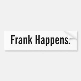 Frank se produit autocollant pour voiture