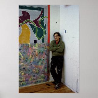 Frank Stella près d'un à lui travaille Poster
