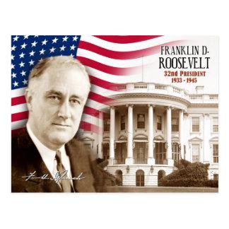 Franklin D. Roosevelt - trente-deuxième président Carte Postale