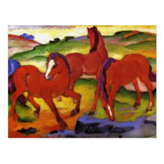 Franz Marc frôlant la carte postale de chevaux