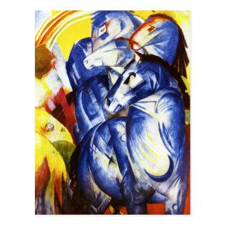 Franz Marc la tour de la carte postale bleue de