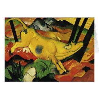 Franz Marc la vache jaune Carte De Vœux