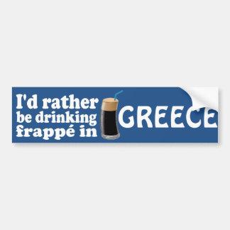 Frappé en Grèce Autocollant Pour Voiture