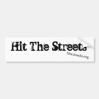 Frappez l'autocollant de rues autocollant de voiture