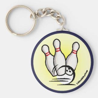 Frappez le porte - clé de goupilles de bowling porte-clés