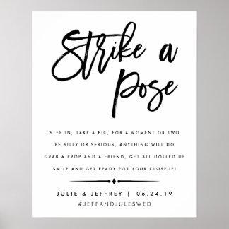 Frappez une cabine l'épousant de photo du courrier posters