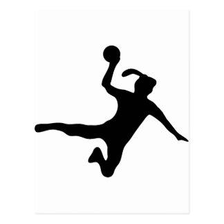 frauenhandball de spielerin de handball cartes postales