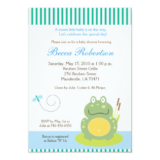 Freddy l'invitation du baby shower 5x7 de carton d'invitation  12,7 cm x 17,78 cm