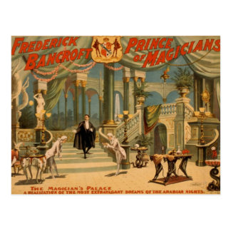 Frederick Bancroft, 'le Palace du magicien Carte Postale