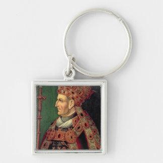Frederick III de l'empereur romain saint de l'Alle Porte-clé Carré Argenté