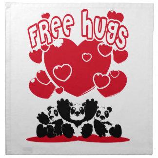 Free_Hugs Serviettes En Tissus