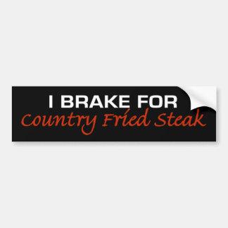 Frein pour le bifteck frit par pays autocollant de voiture