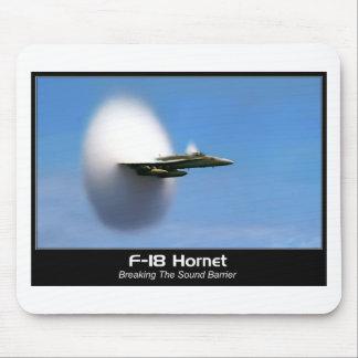 Frelon du bang sonique F-18 Tapis De Souris