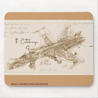 Frelon Mousepad du F/A-18 de da Vinci Tapis De Souris