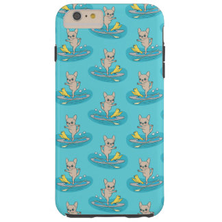 Frenchie faisant le yoga sur le panneau de palette coque tough iPhone 6 plus