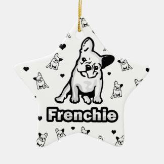 Frenchie Ornement Étoile En Céramique