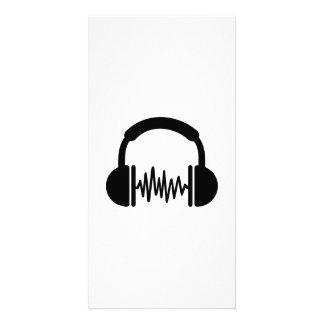 Fréquence DJ d écouteurs Cartes Avec Photo