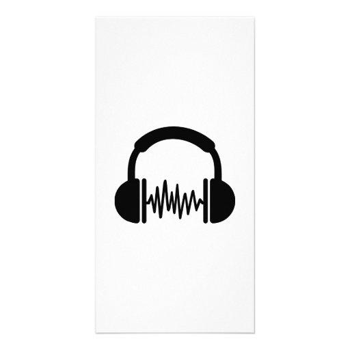 Fréquence DJ d'écouteurs Cartes Avec Photo