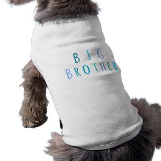 Frère dans le bleu t-shirt pour chien
