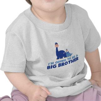 frère de dinosaure à être NOUVEAU bleu T-shirts