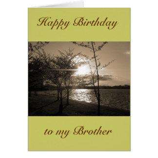 Frère de joyeux anniversaire de frère/de soeur carte de vœux