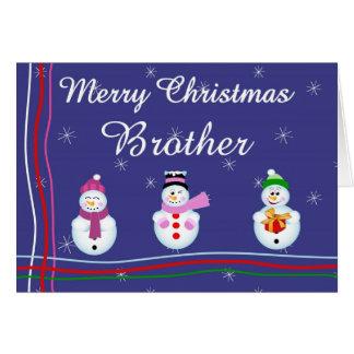 Frère de Noël Carte De Vœux
