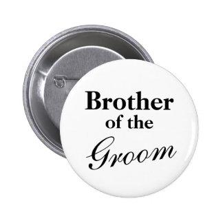 Frère élégant des boutons de marié badge rond 5 cm