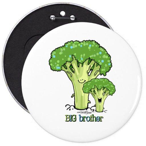 Frère - petit bouton d'enfant de mêmes parents badge avec épingle