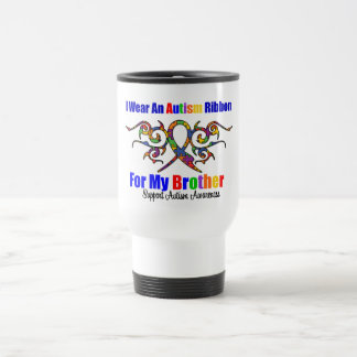 Frère tribal de ruban d'autisme tasse à café