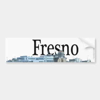 Fresno la Californie avec Fresno dans le ciel Autocollant De Voiture