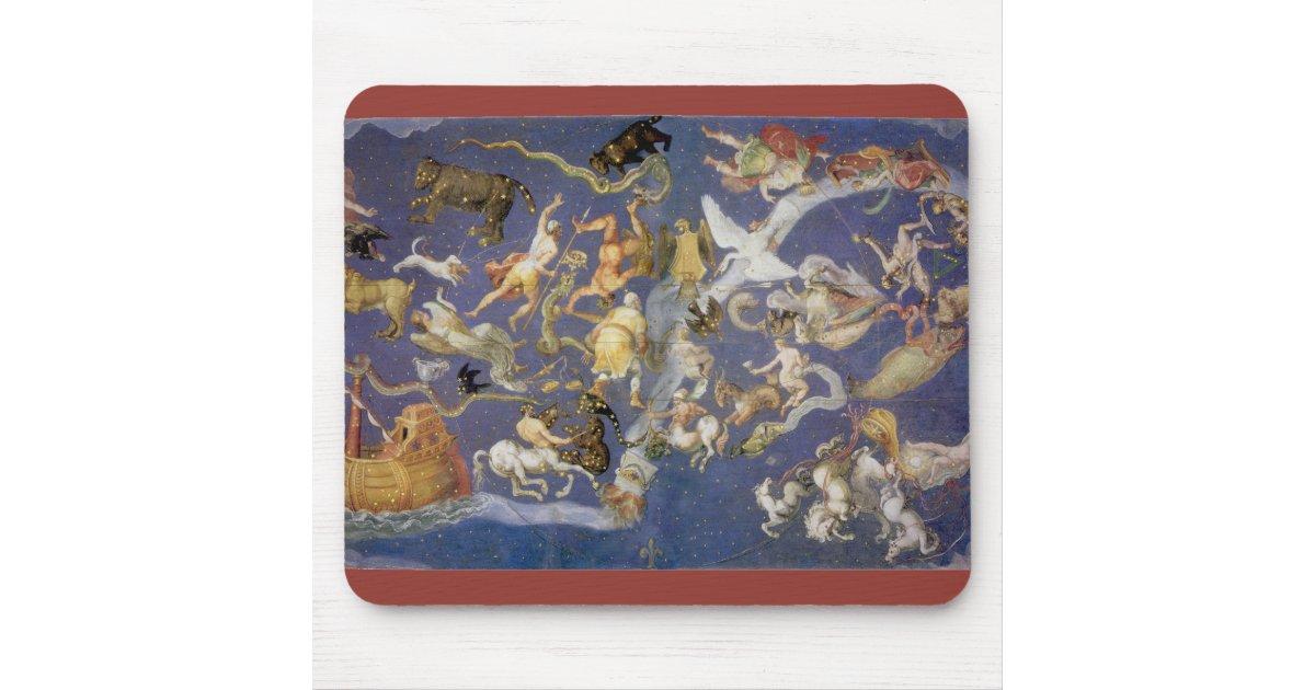 Fresque c leste d 39 astronomie vintage tapis de souris zazzle for Surface minimum bureau code du travail