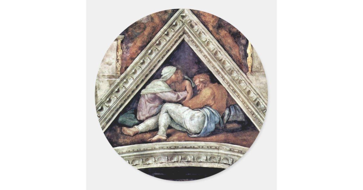 Fresque de plafond pour l 39 histoire de la cr ation sticker rond zazzle - Stickers pour plafond ...