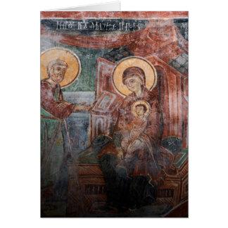 Fresques de l'église serbe du 14ème siècle, 2 carte de vœux