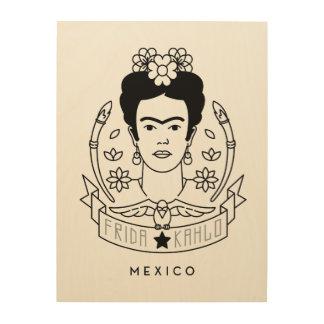 Frida Kahlo | Heroína Décoration Murale Sur Bois