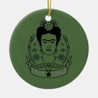 Frida Kahlo | Heroína Ornement Rond En Céramique