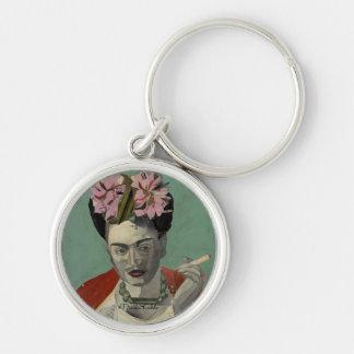 Frida Kahlo par Garcia Villegas Porte-clé Rond Argenté