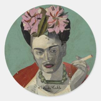 Frida Kahlo par Garcia Villegas Sticker Rond
