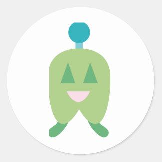 FriendlyAliensA2 Sticker Rond